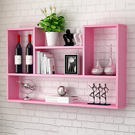 WSSF- Storage Shelves Concave-Shaped Wall Shelves Living Room ...