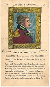George the Third 1830 rare hand color Royalty King print