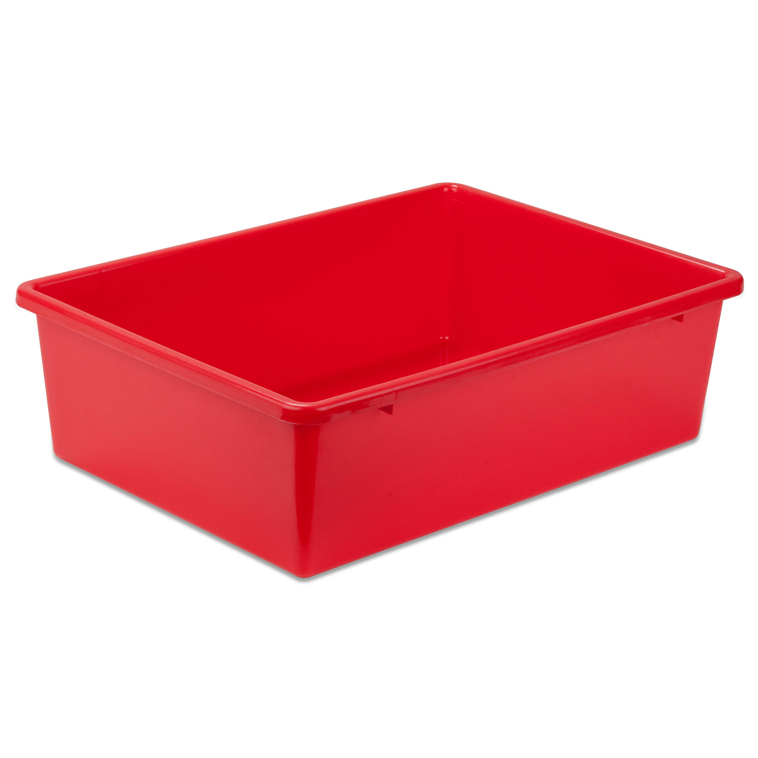 Honey-Can-Do PRT-SRT1602-Lgred large plastic bin, red by Honey-Can-Do