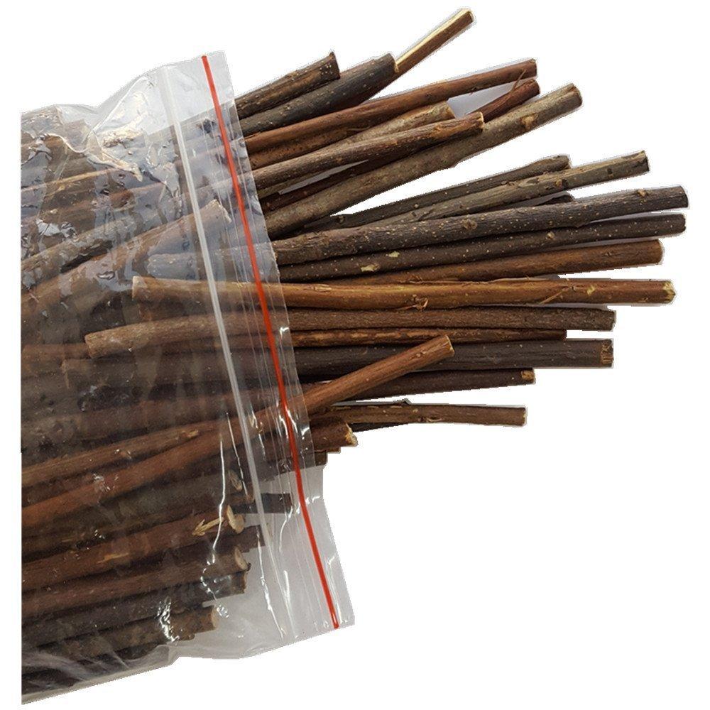 MAIYUAN 5 Inch Long 0.1 0.2 Inch in Diameter Wood Log Sticks for DIY Crafts Photo Props 100pcs