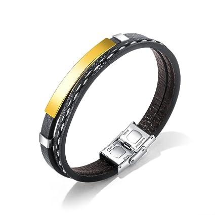 Gperw Accesorios de Pulsera de Moda Pulsera Trenzada de múltiples Capas de los brazaletes de la