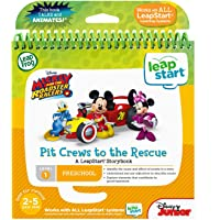 LeapFrog Leapstart Book- Mickey & The Racers, Pit Crews to The Rescue