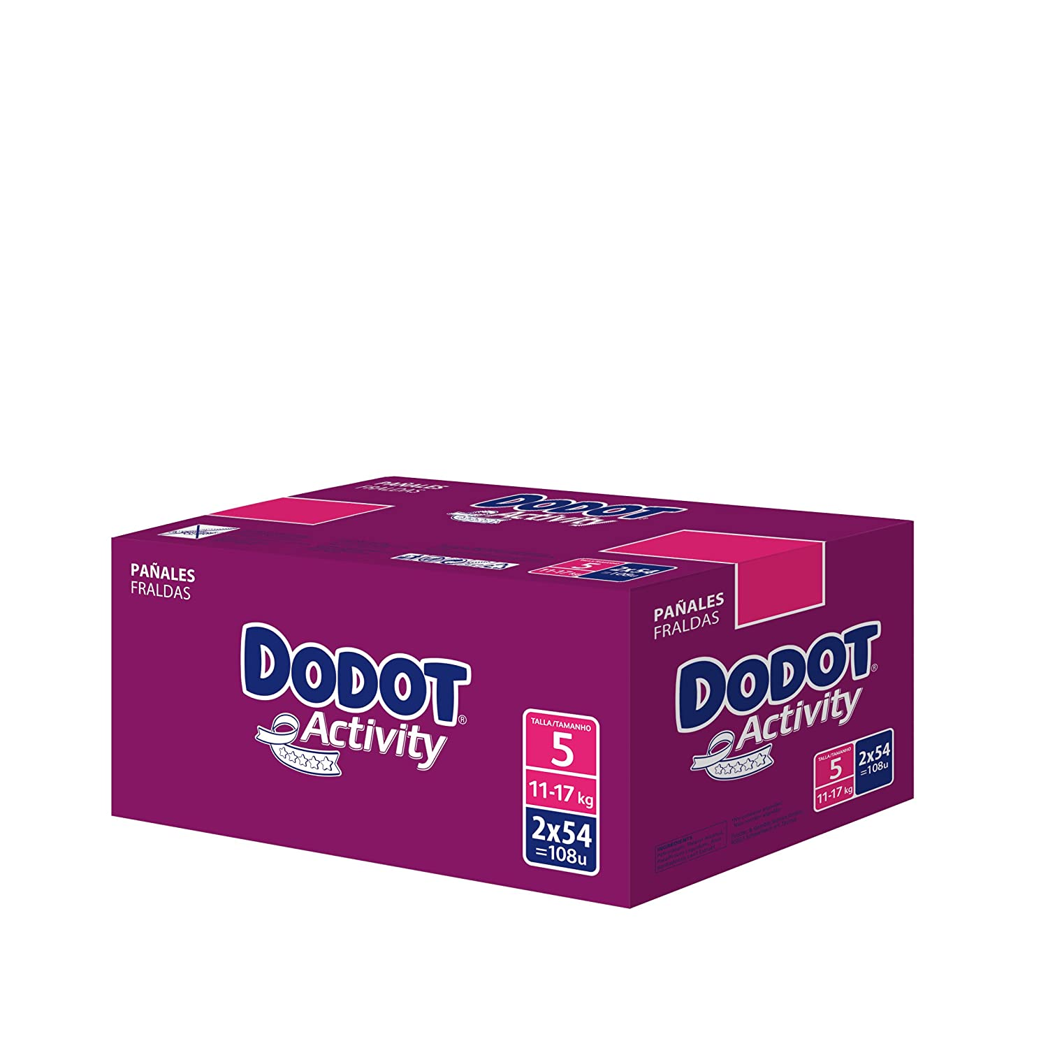 Amazon.com: Dodot Activity - Nappies - Size 5 (13-18 kg) - 2 x 54 Nappies by Dodot: Health & Personal Care