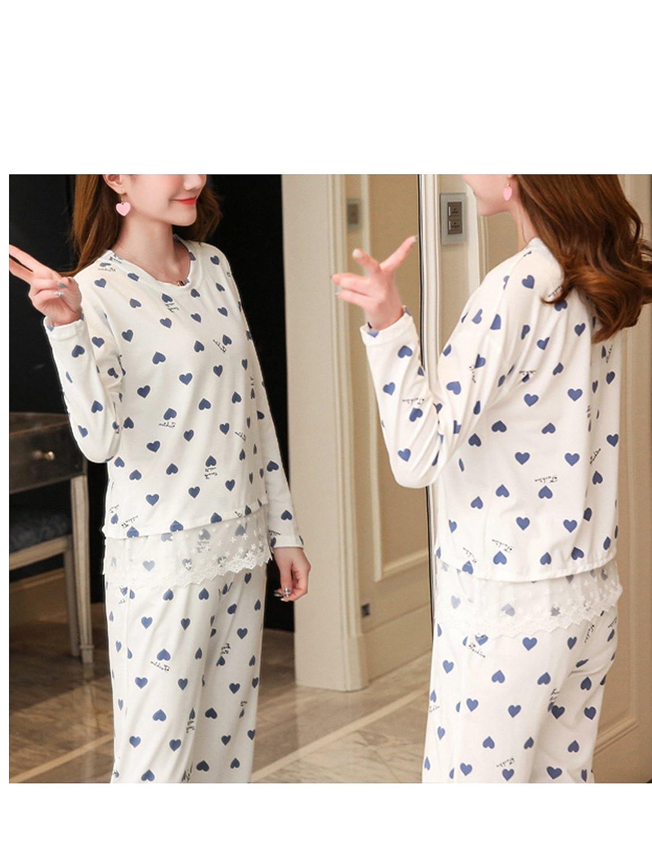 BAIYIXIN Big Girl Pajama Set Comfy Long Sleeve Sleepwear Lounge wear