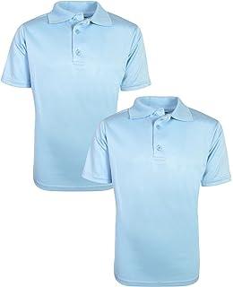 af2debfa Beverly Hills Polo Club Boys Short Sleeve Dry-Fit Performance School Uniform  Polo (2