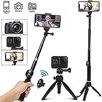 TXG Tripie para Celular, Selfie Trípode Bluetooth, 360°Rotación Extensible Selfie Stick Inalámbrico Palo Selfie Trípode para Móvil Deportivo de Control Remoto y Trípode Plegable para Android iOS y Otros Celular Inteligentes
