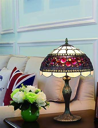 Lámpara de mesa vintage Tiffant de 12 pulgadas Lámpara de ...