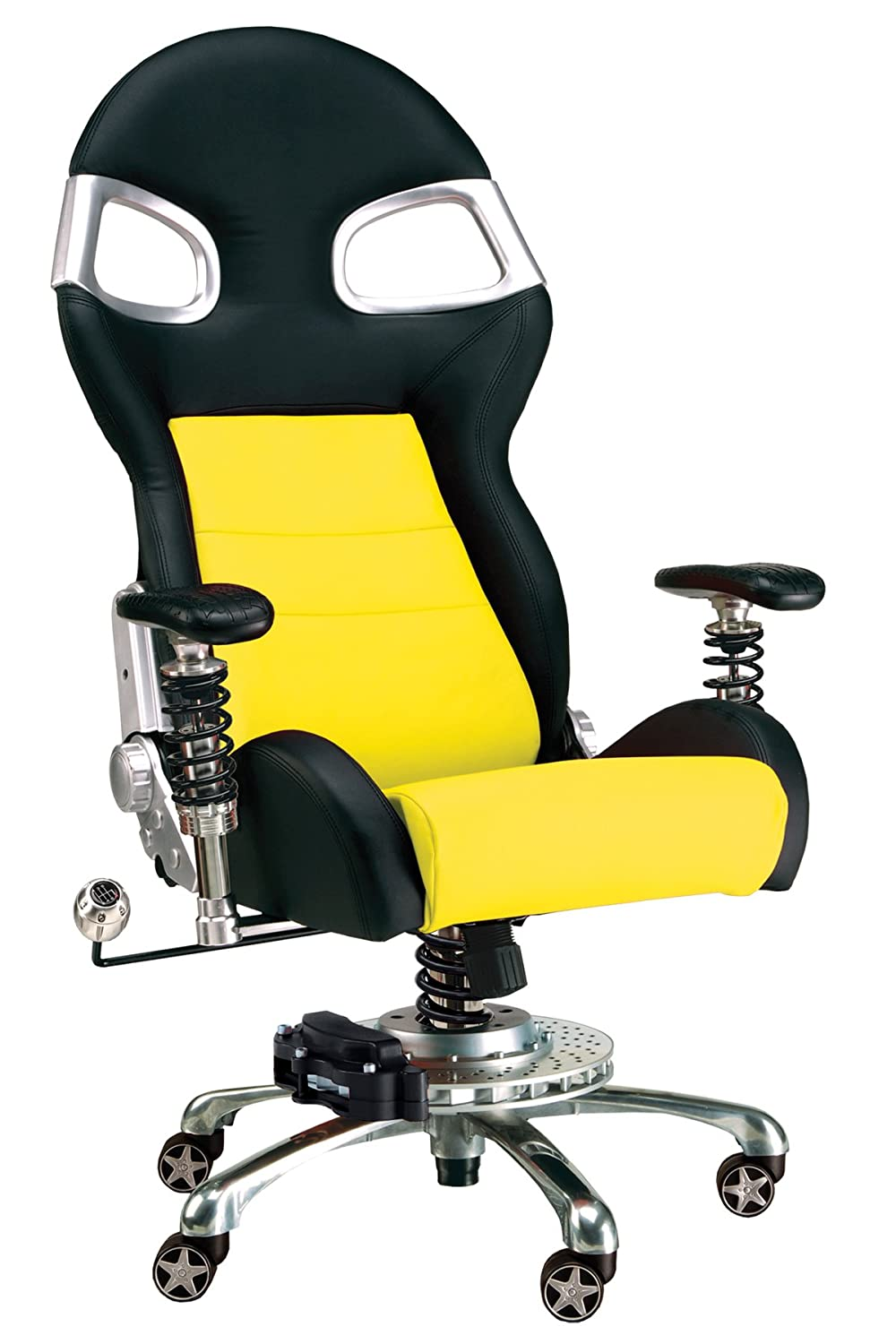 unusual office chairs. amazoncom pitstop furniture f08000y yellow lxe office chair automotive unusual chairs a