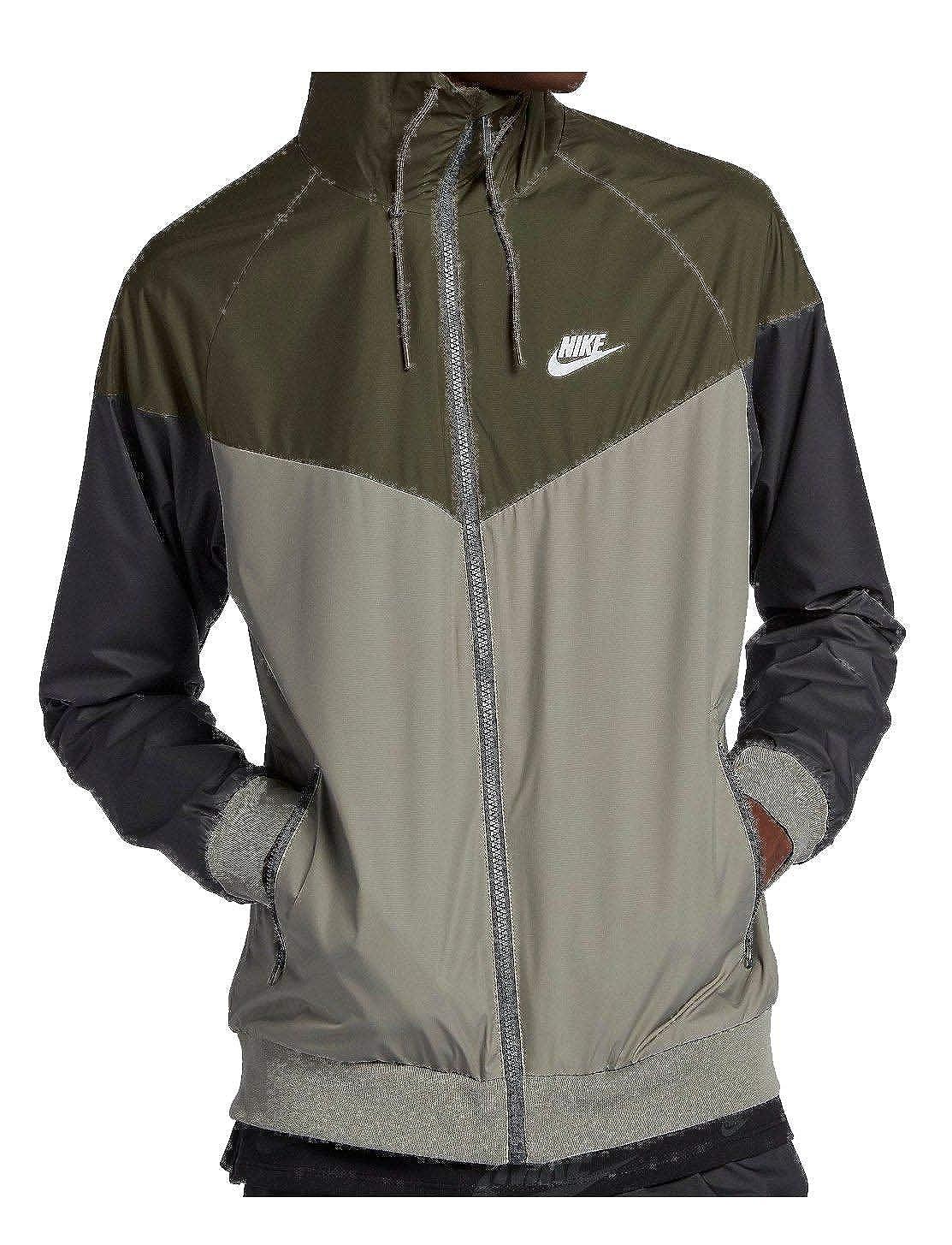 727324-395 Nike Windrunner Jacket Olive Green Stucco Black M-4XL