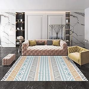 QUD Multicolor Glamour Collection Non-Slip Moroccan Trellis Design Runner Rug Home Decor 7/13 (Color : B, Size : 140CMX200CM)