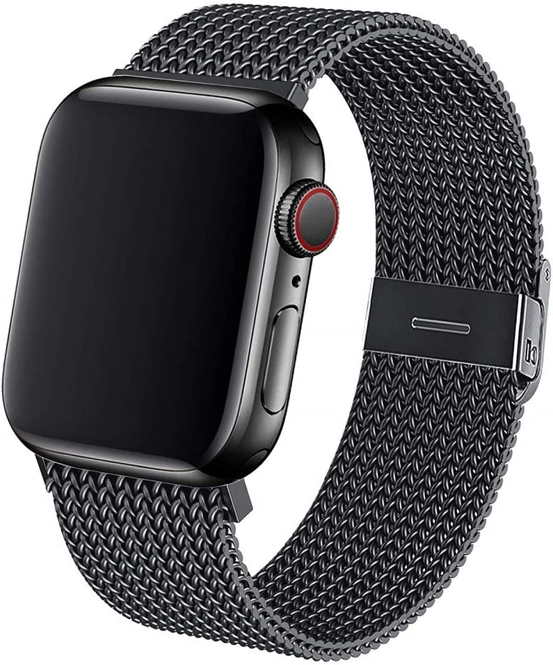 Metal Band Compatible with Apple Watch Bands 38mm 40mm 42mm 44mm, Stainless Steel Mesh Loop Replacement Wrist Band Compatible with iWatch Series SE 6 5 4 3 2 1
