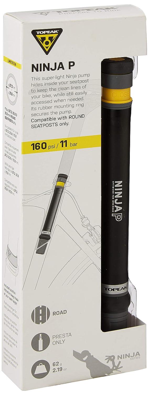 Topeak Ninja P Bomba de Bicicleta (Mini), Black, 20.3 x 2.1 x 2.1 cm