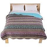 Orara beauty 独特のデザインベッドスプレッド 柔らかいベッドスカート シングル、ダブるベッドカバーシートフルクイーン、キングサイズ