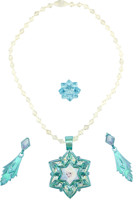 Bracelet Necklace /& 2 rings 2015 C Disney Frozen Elsa /& Anna Girls Jewelry set