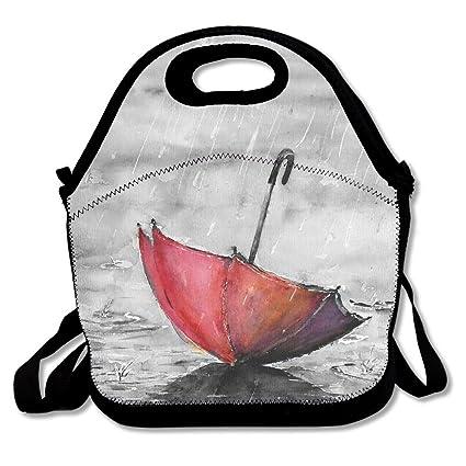 d7ea1503ddd0 Amazon.com: Jingclor Red Umbrella Funny Pattern Insulated Portable ...