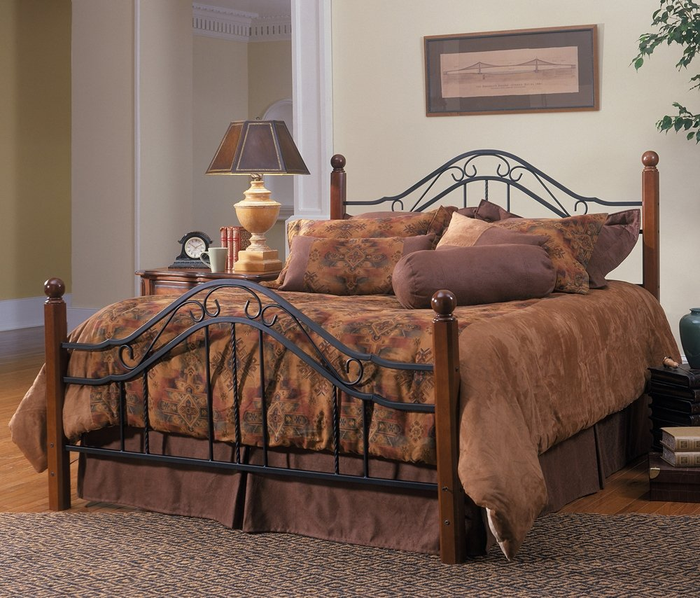Amazon.com: Hillsdale Furniture 1010BQR Madison Bed Set With Rails, Queen,  Textured Black: Kitchen U0026 Dining