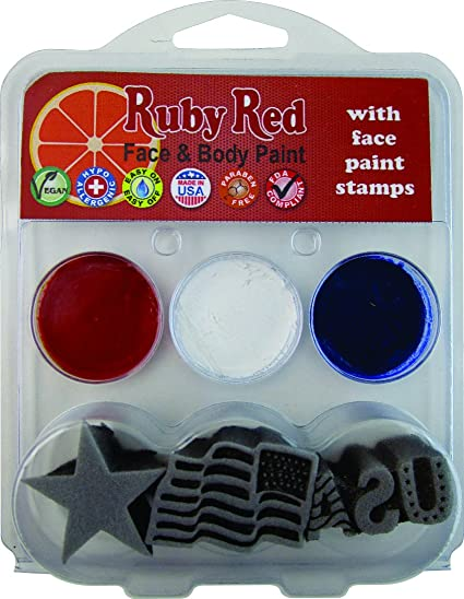 Snazaroo 4th Of July Stamp Face Painting Kit Star USA Flag