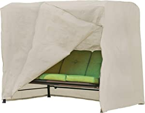 Modern Leisure 5429A Patio Swing Cover, (87 L x 64 D x 66 H inches), Beige