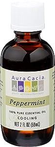 Aura Cacia, Oil Essential Peppermint, 2 Fl Oz