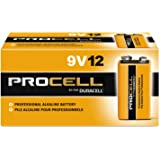 : Duracell PC1604BKD Procell Alkaline Batteries, 9V (Pack of 12) – style and color may vary