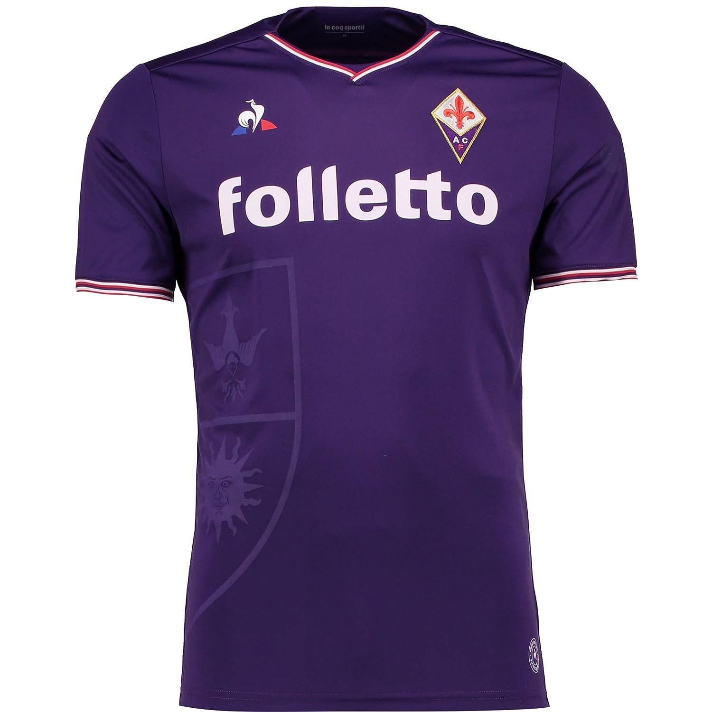 Official Fiorentina Football Home Shirt 2017 18 Mens - XL Le Coq Sportif   Amazon.co.uk  Sports   Outdoors 16dbe93e4