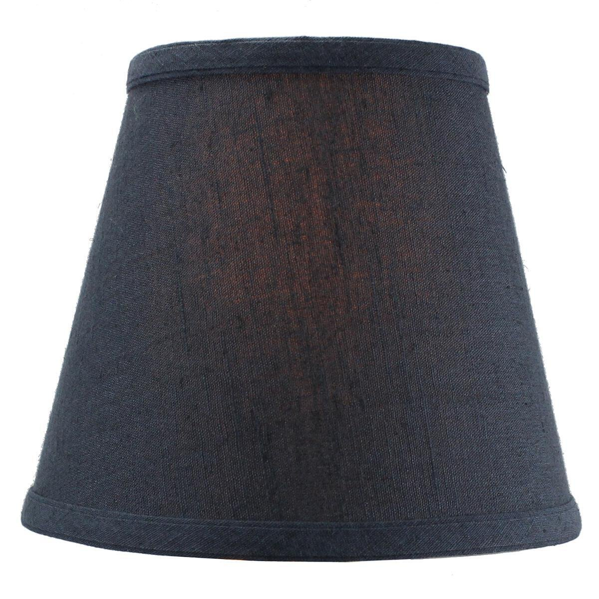 5x8x7 Textured Slate Blue Hard Back Lampshade Clip On Fitter by Home Concept - Perfect for Small Table Lamps, Desk Lamps, and Accent Lights -Small, Blue by HomeConcept (Image #6)