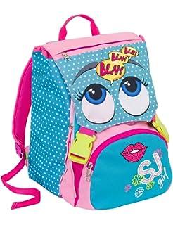 93449c6c0e Zaino scuola sdoppiabile SJ - BOY - Azzurro Rosa Giallo - FLIP SYSTEM - 28  LT