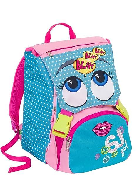 nuovo prodotto 23229 0ca9e SJ Zaino Scuola sdoppiabile Girl - Azzurro Rosa Giallo - Flip ...