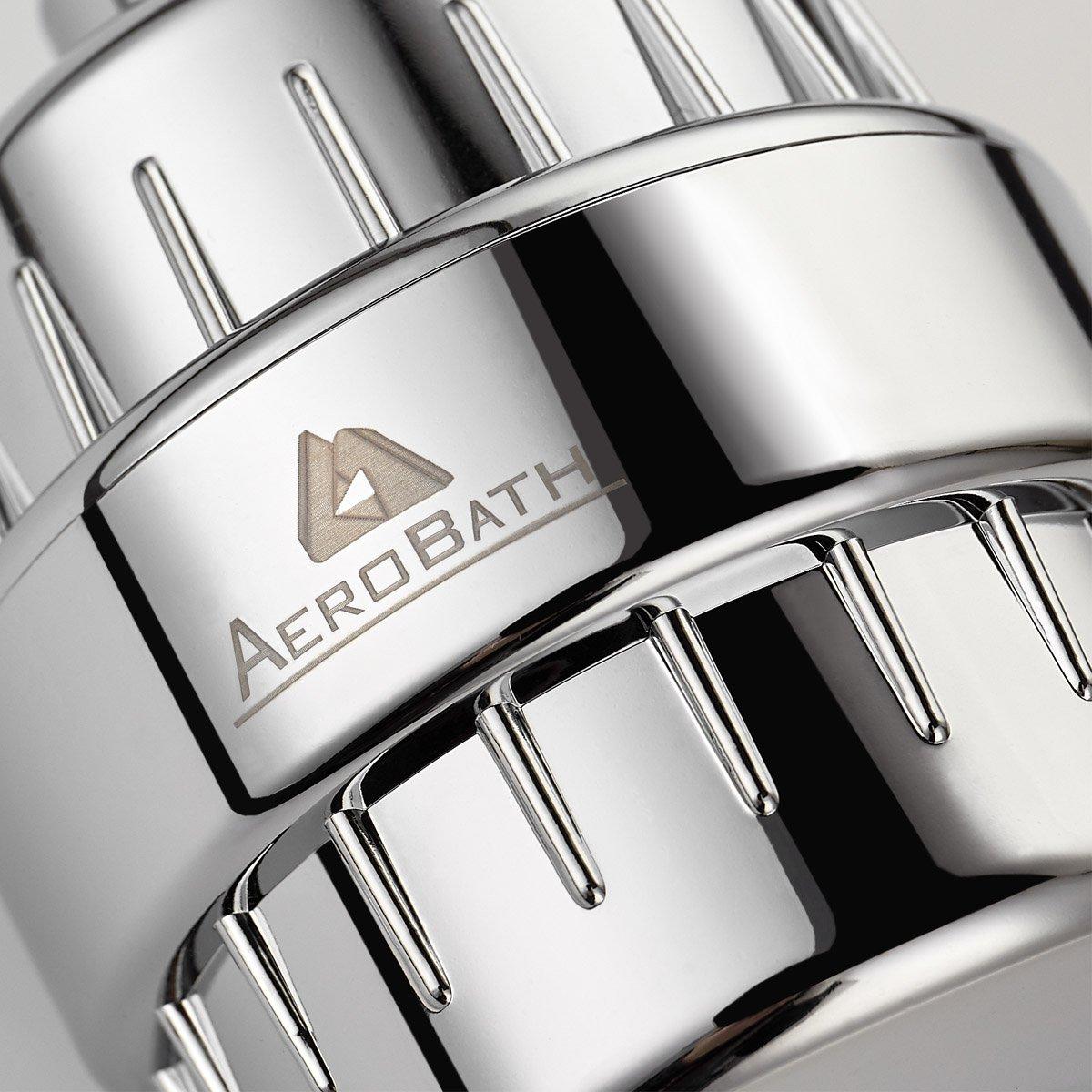 2018 Filtro para Ducha Universal de alta salida Aerobath elimina cloro cal y metales pesados con nueva columna de calcio de alta eficiencia de sulfito de calcio Purificador de m/últiples etapas