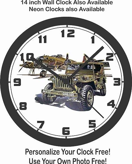 Ford Jeep GPW & Militar reloj de pared de avión, segunda guerra mundial, Corea