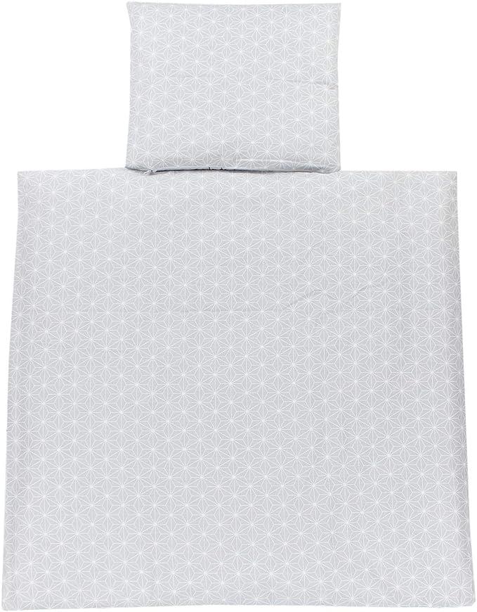 80x80 cm Elephant White//Drops Gray TupTam Baby Pram Crib Bedding Set Duvet and Pillow 4 pieces