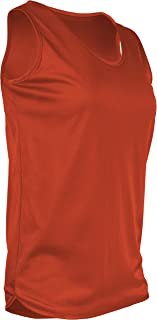 product image for TR-903W-CB Women's Athletic Single Ply Solid Color Light Weight Track Singlet (X-Small, Orange)