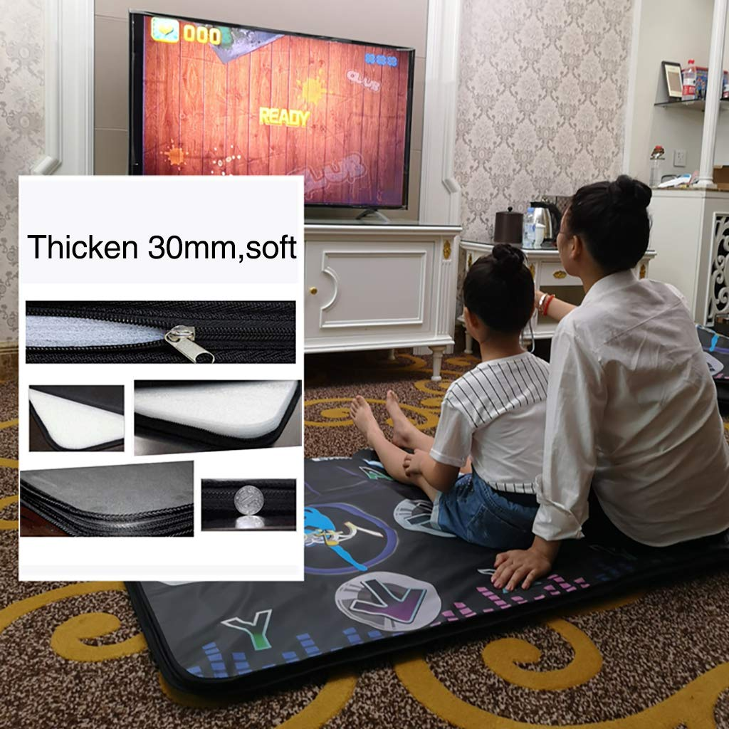 Wireless Children Dance Pad,Fitness Lose Weight Dance Pad Game Dancing Play Mat Hd Tv Computer Dual-c 166x93cm(65x37inch) by WEWE (Image #3)