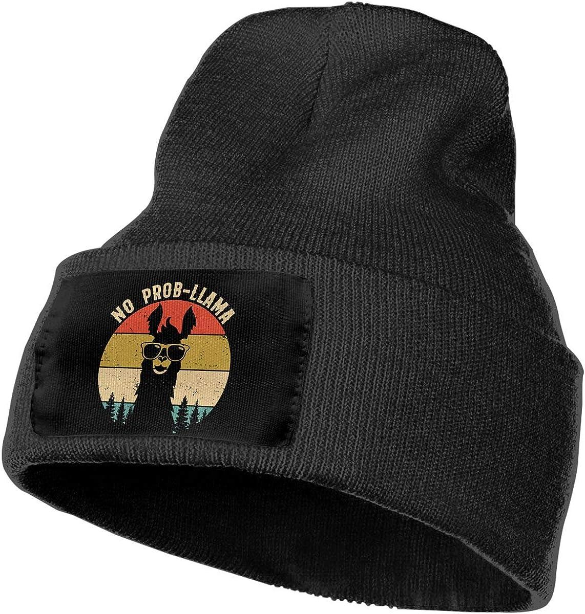 Mens/&Womens No Prob Llama Beanie Cap Thick,Soft,Warm Slouchy Knit Hat Winter Soft Ski Cap
