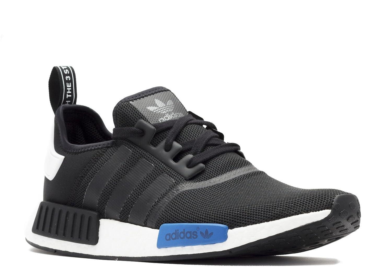 Black, Black, White, bluee Adidas Originals Men's Primeknit NMD_R1 Running shoes (Black)