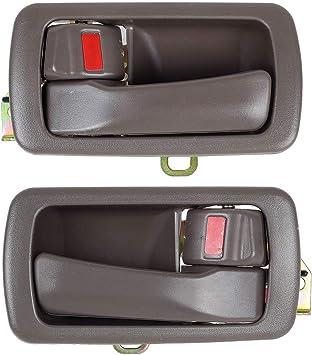 Inside Door Handle Bezel // Trim Right Passenger Front or Rear Brown Oak