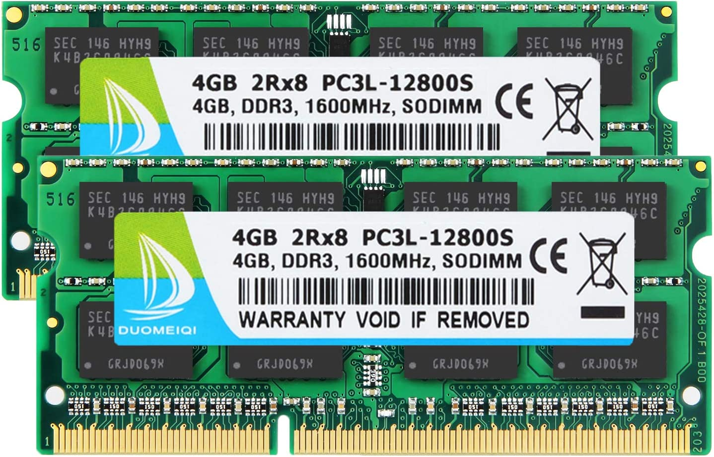 DUOMEIQI 8GB Kit (2 X 4GB) 2RX8 PC3L / PC3-12800, DDR3L / DDR3 1600MHz SODIMM RAM for AMD Intel Laptop, Early/Mid/Late 2011, Mid/Late 2012, Early/Late 2013, Late 2014, Late 2015 MacBook Pro, iMac, Mac