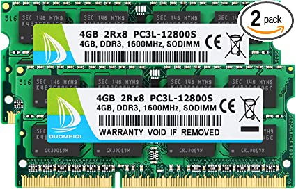 Samsung 16GB 2x 8GB PC3L-12800 DDR3 1600MHz Memory for MacBook Pro Mid-2014 13/""