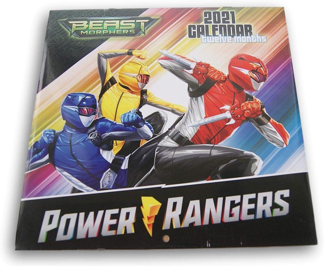 Power Rangers Beast Morphers 2021 Twelve Month Wall Calendar