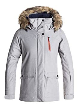 844fbc339b0e0 Roxy Tribe - Veste de Snow - Fille 8-16 Ans - Gris: Roxy: Amazon.fr ...