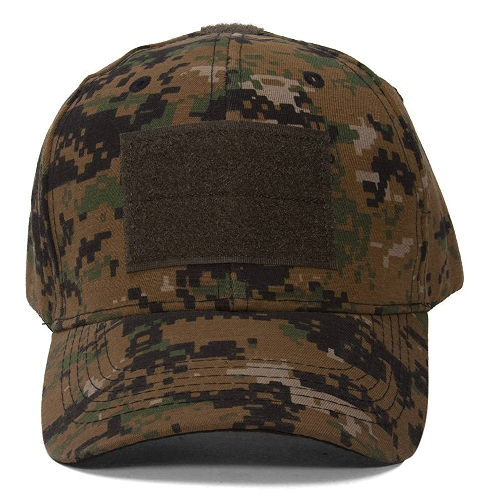 03cdf7a843a Tactictal Operators Digital Woodland Camo hook and loop Adjustable Hat at  Amazon Men s Clothing store