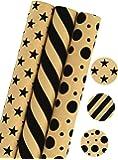 LaRibbons Carta Regalo - 75 Piedi Quadrati - Stars/Strisce/Punti di Stampa - Sold 3Pcs