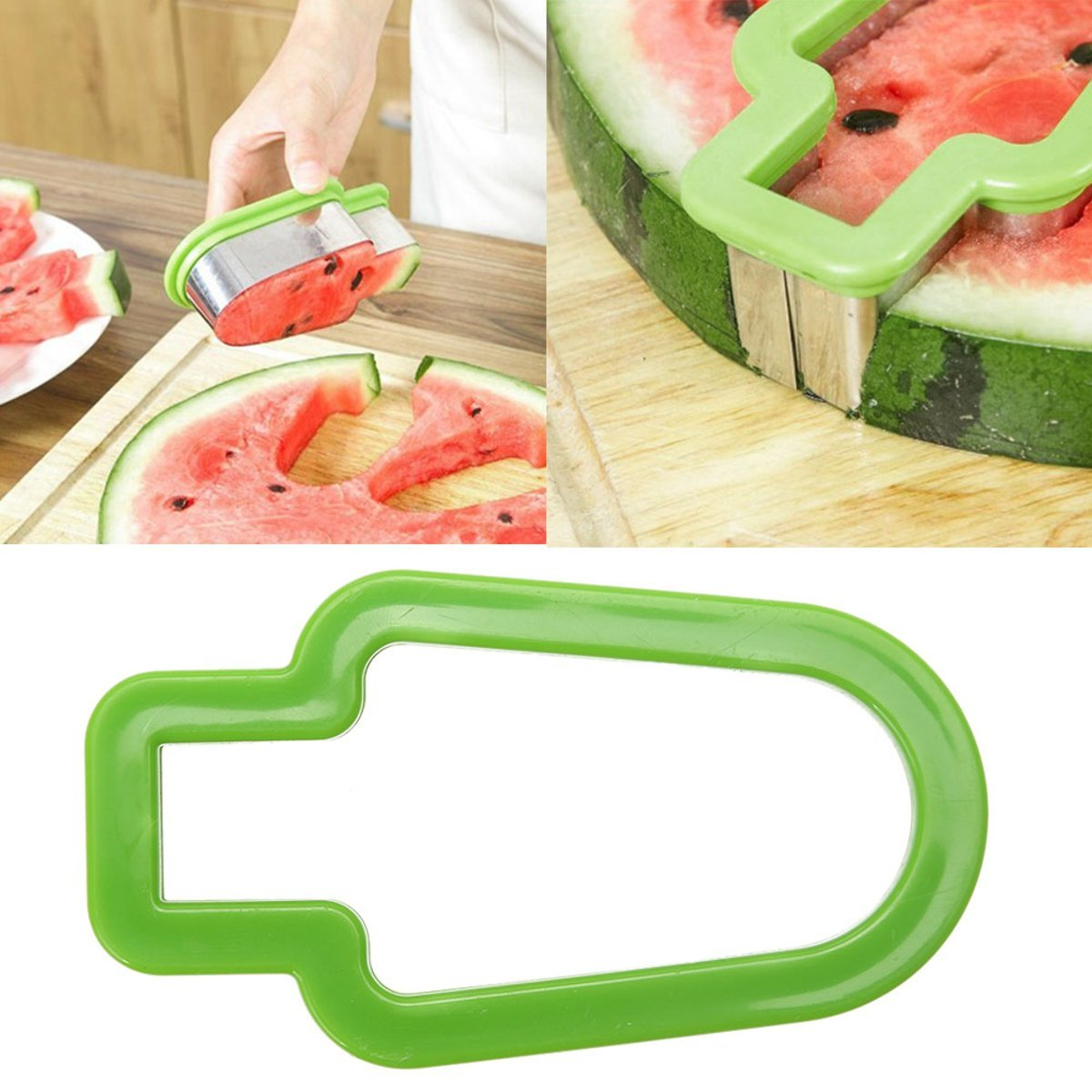 VANLLERTEAM – 1PCS Watermelon Slicer. Knife Ice Cream Shape Fruit Cutter Slicer. Watermelon Slice Model Fruit Knife Ice Cream Shape Fruit Cutter Slicer Cooking Tool.
