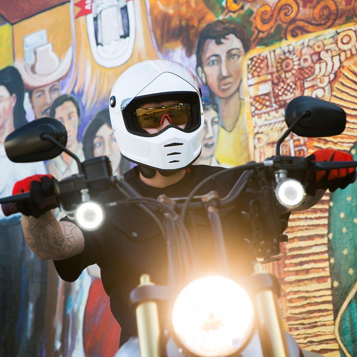 Casco Lane Splitter Helmet ECE approved BIANCO LUCIDO