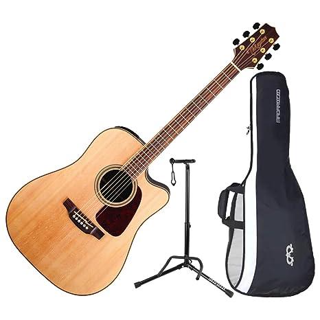 TAKAMINE gd93ce-nat acústica guitarra eléctrica w/funda y soporte