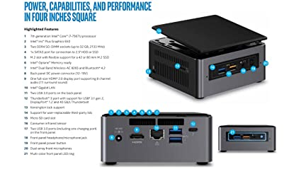 Intel NUC i7-7th Gen UCFF Processor