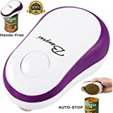 BangRui Soft Edge Automatic Can Opener Safety One Button Start and Auto-Stop Can Opener--Purple