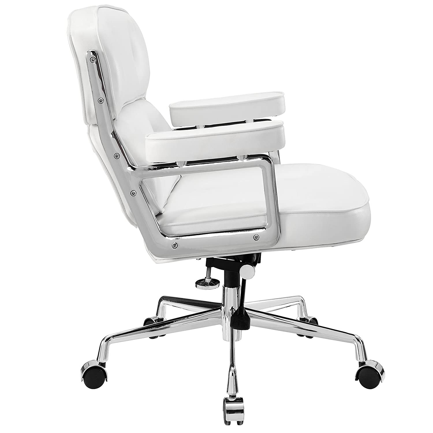 Amazon.com: Modway Remix Deluxe Vinyl Executive Office Chair In White:  Kitchen U0026 Dining