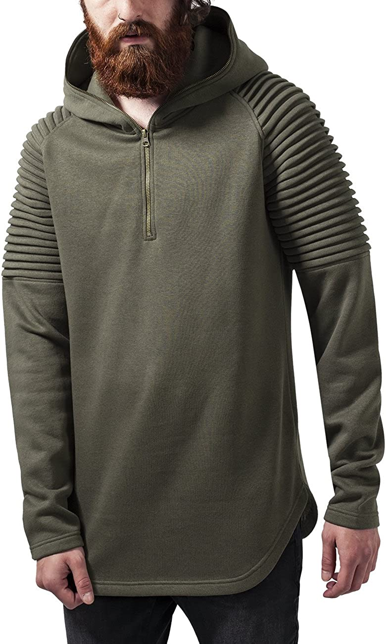 Urban Classics Pleat Sleeves Terry Hoody Sudadera para Hombre