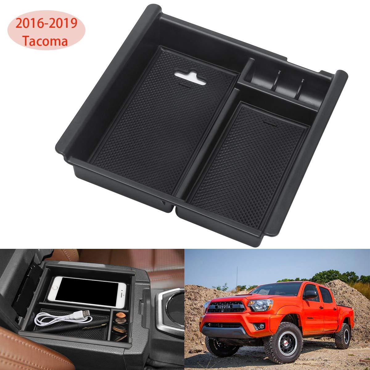 Toyota Truck Accessories >> Luxiv Center Console Organizer For Toyota Tacoma 2016 2017 2018 2019 Tacoma Accessories Console Insert Organizer Tray Tacoma Armrest Box Secondary
